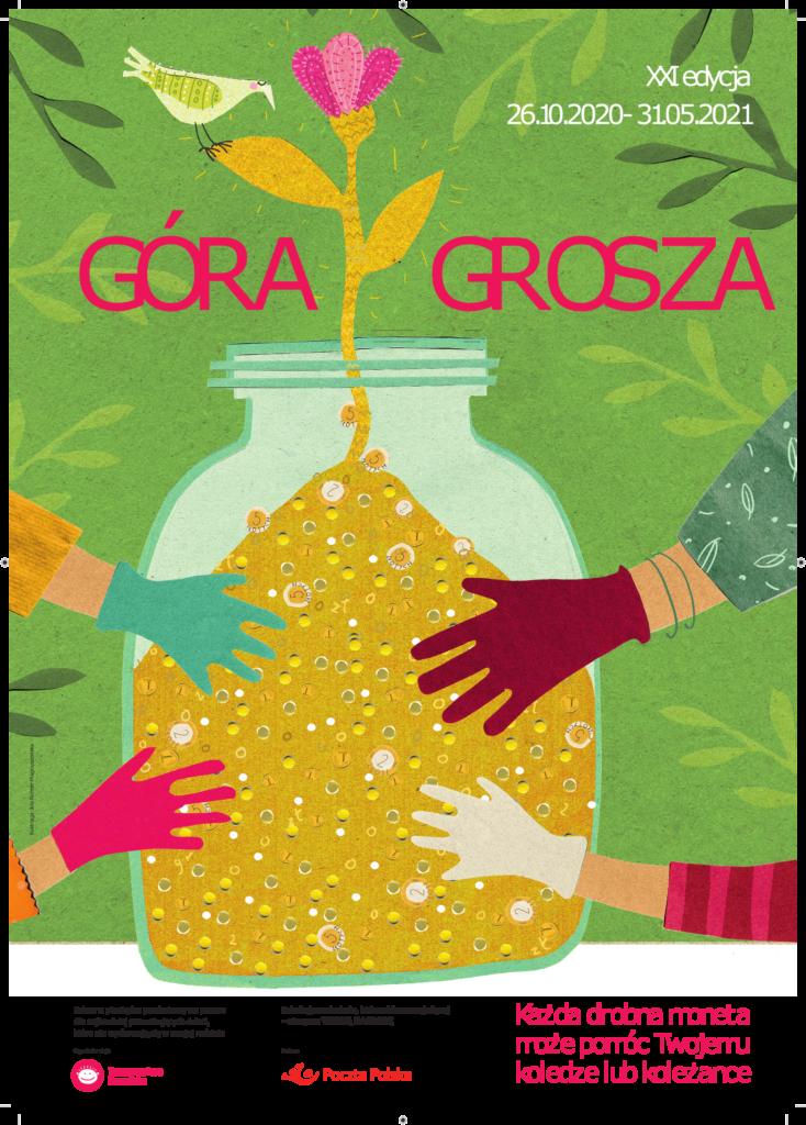 Plakat informacyjny o akcji Góra grosza 2021
