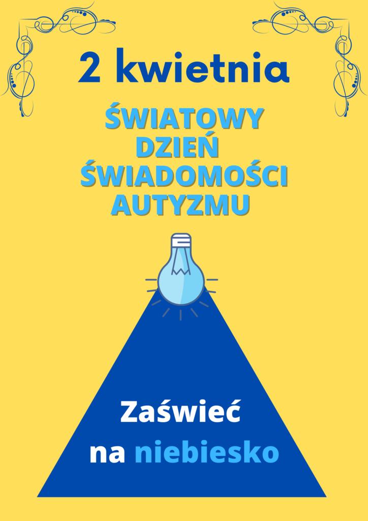 Plakat promujący światowy dzień świadomości autyzmu.