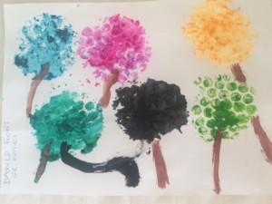 Malowanie wiosenne drzewka Dawid Flont