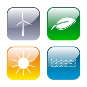 Erneuerbare Energie icons