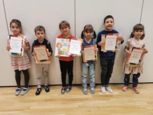 Dzieci, które wzięły udział w konkursie rodzinnym- grupy starsze